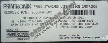 Ribbon Printronix P7000 255049-103 Standard Cartridge
